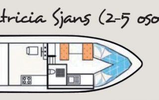 Uspořádání lodě Patricia