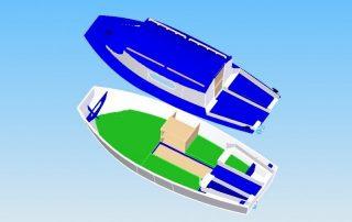 Vizualizace člunu Krajánek