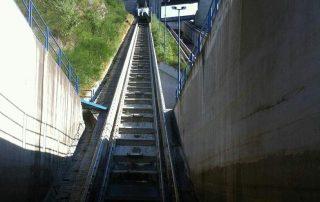 Vjezd do lodního výtahu na Orlíku
